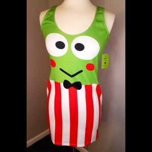 Japan LA Sanrio Keroppi green, red, white bodycon